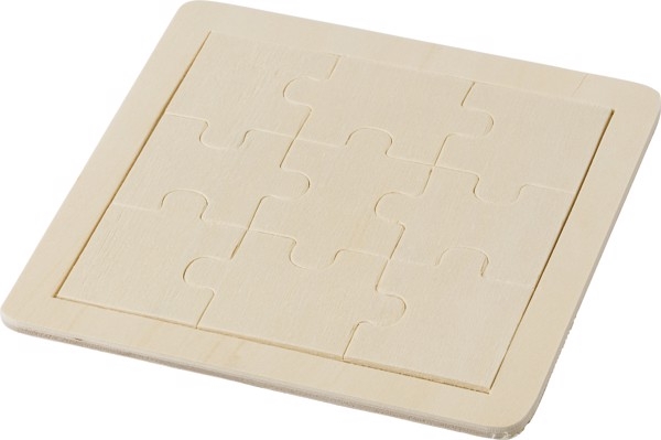 Wooden nine piece puzzle
