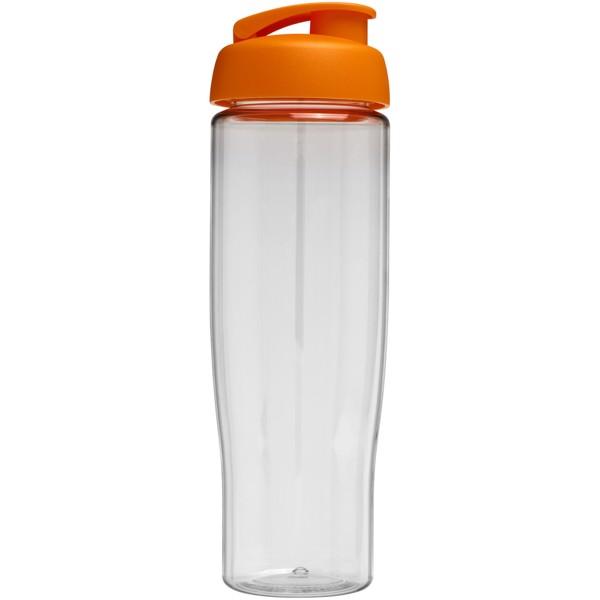 Sportovní láhev s vyklápěcím víčkem H2O Tempo® 700 ml - Průhledná / 0ranžová