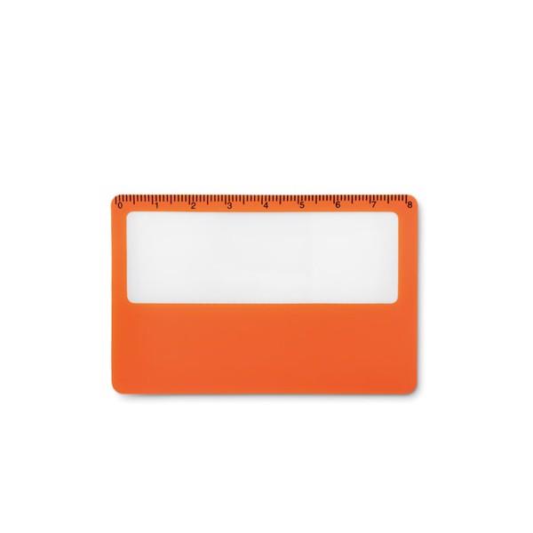 Karta kredytowa – lupa - pomarańczowy