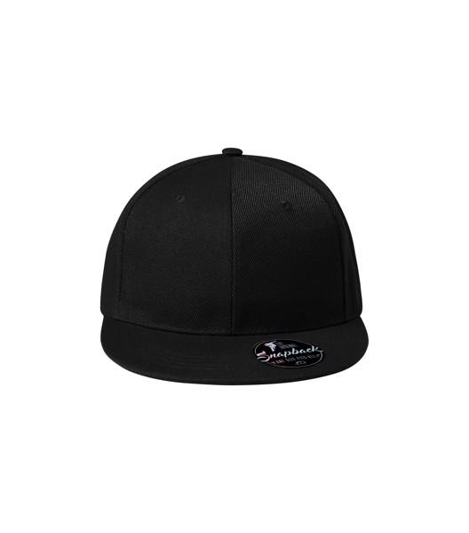 Čepice unisex Malfini Rap 6P - Černá / nastavitelná
