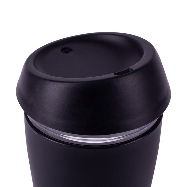 Szklany kubek Stylish 350 ml - Czarny