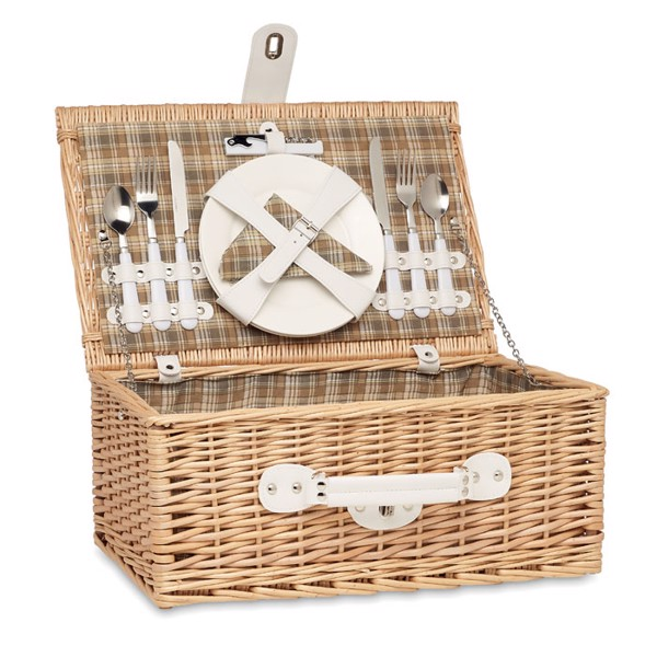 Wicker picnic basket 2 people Mimbre