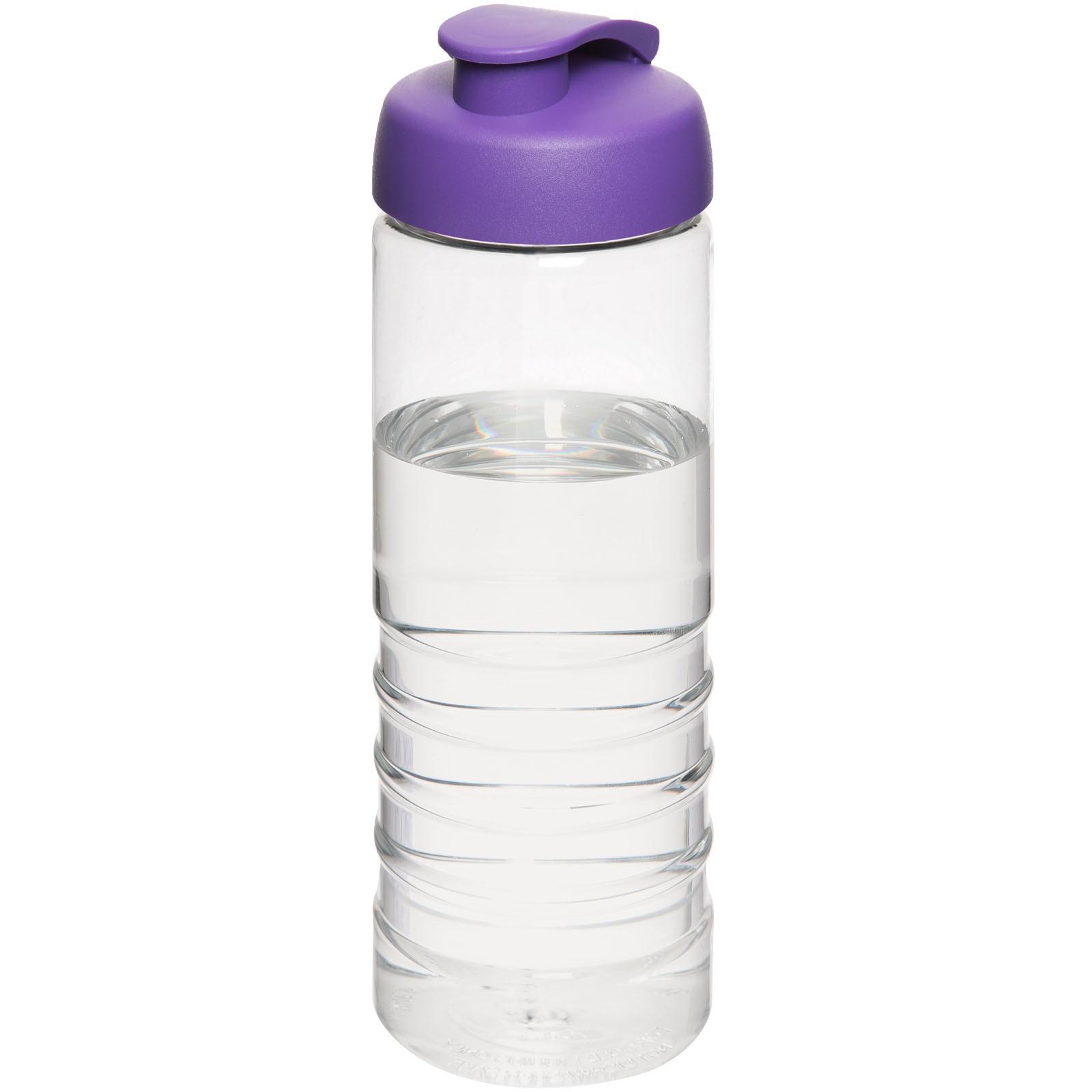 H2O Treble 750 ml sportovní lahev s vyklápěcím víčkem - Průhledná / Purpurová
