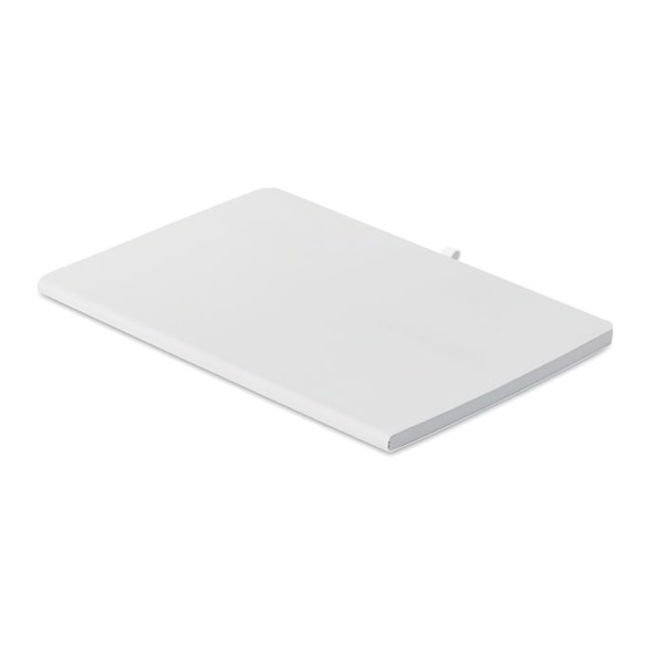 A5 soft PU cover notebook Rainbow - White