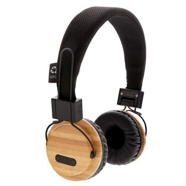 Bambusová bezdrátová sluchátka