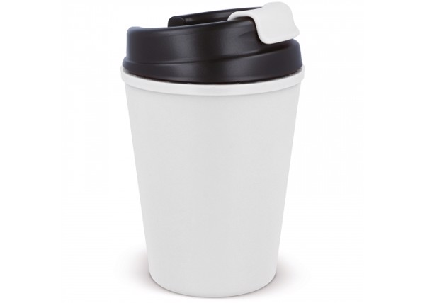 Thermo mug plastic coffee to-go 350ml - White
