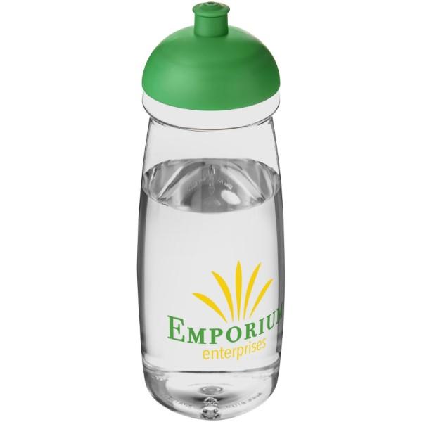 Sportovní láhev s kupolovitým víčkem H2O Pulse® 600 ml - Průhledná / Zelená