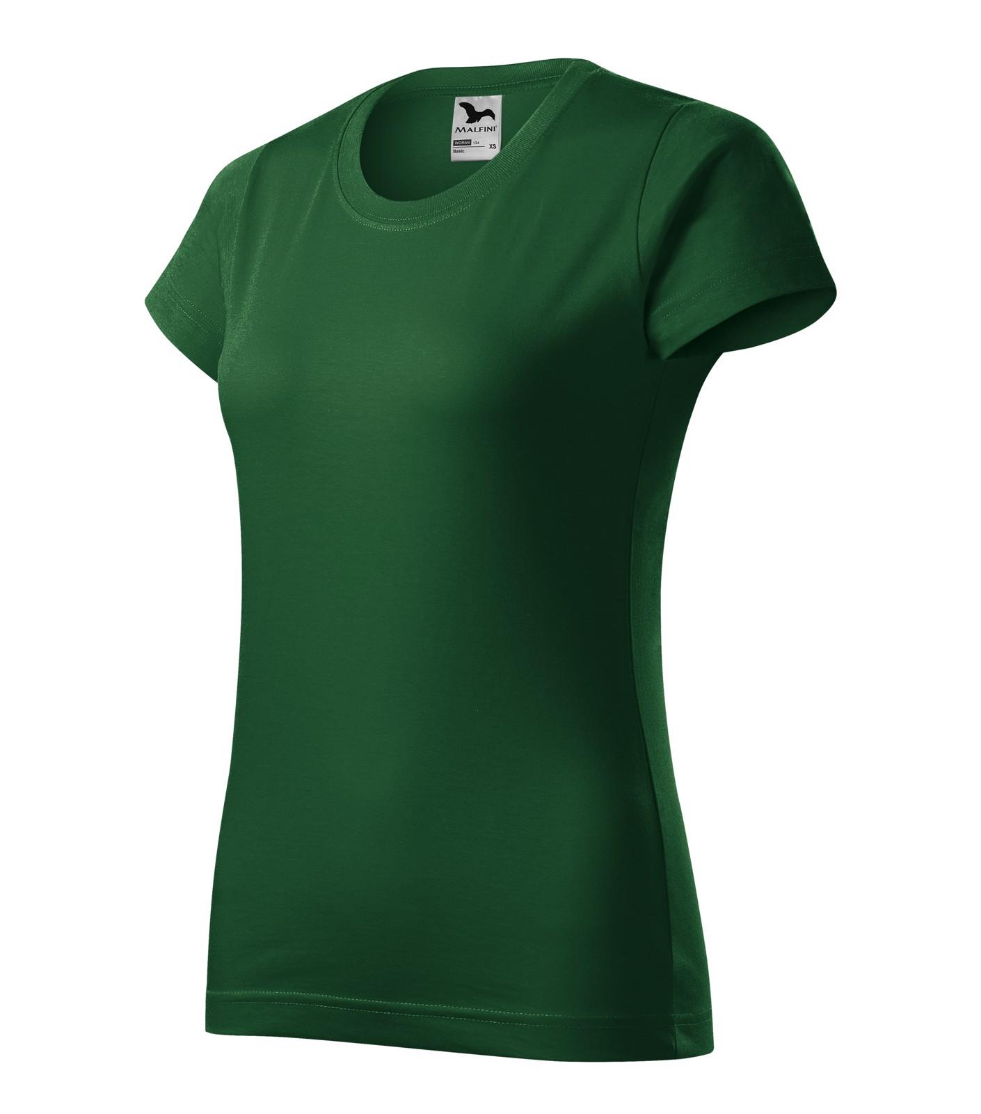 T-shirt women's Malfini Basic - Bottle Green / XL