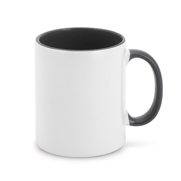MOCHA. Ceramic mug 350 ml - Black