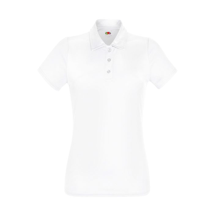 Dámské funkční polo tričko Lady-Fit Polo 63-040-0 - White / M