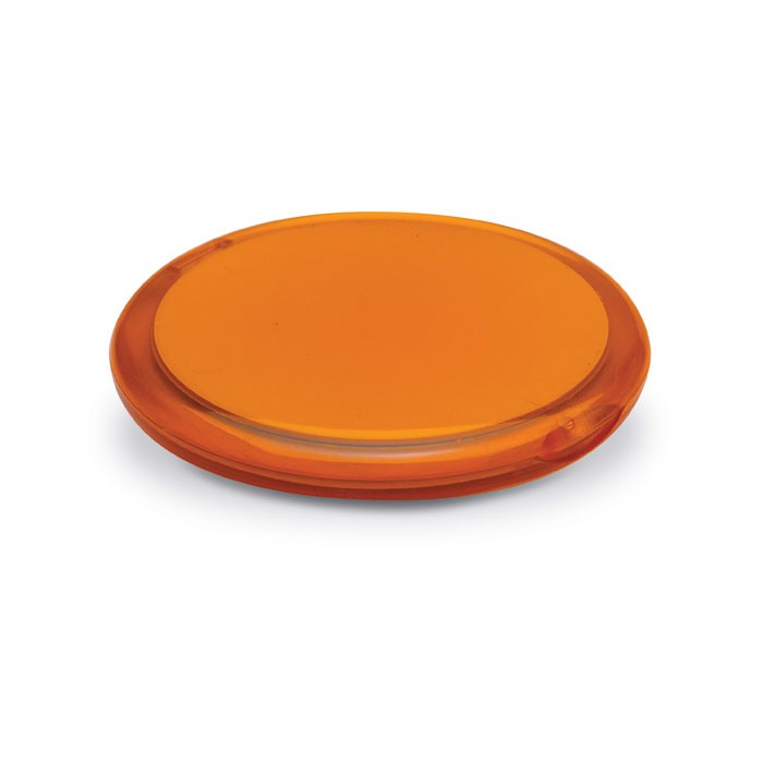 Rounded double compact mirror Radiance - Transparent Orange