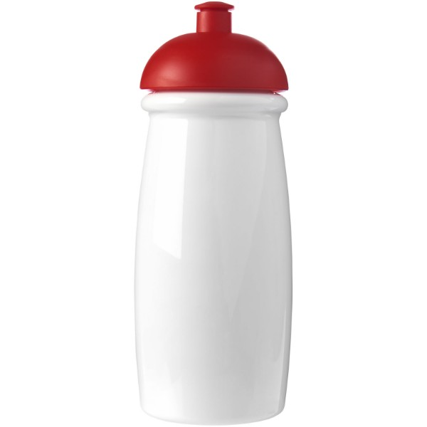 H2O Pulse® 600 ml dome lid sport bottle - White / Red