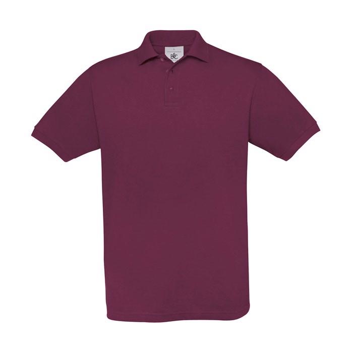 Men's Polo Shirt 180 g/m2 Pique Polo Safran Pu409 - Burgundy / L