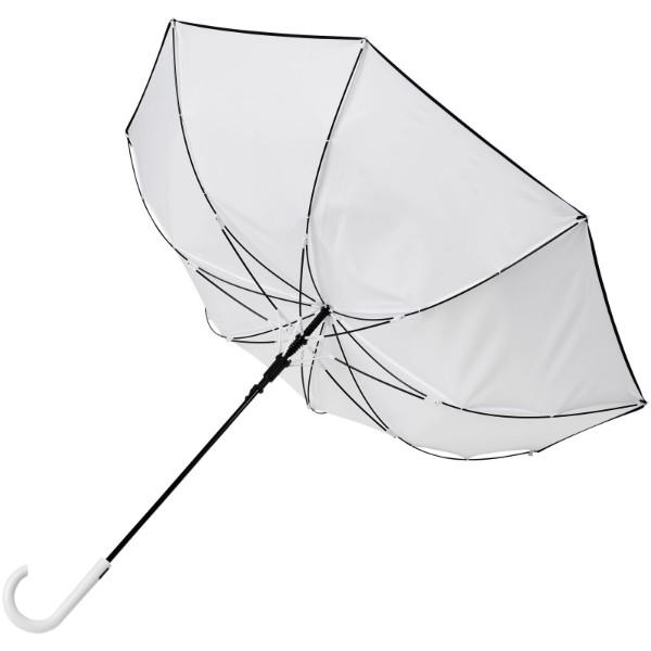 """Kaia 23"""" větruodolný barevný deštník s automatickým otvíráním - Bílá"""