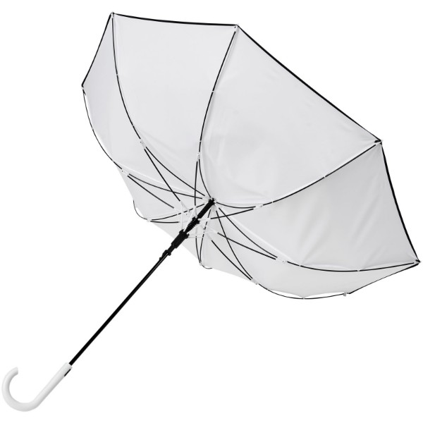 "Kaia 23"" auto open windproof colourized umbrella - White"