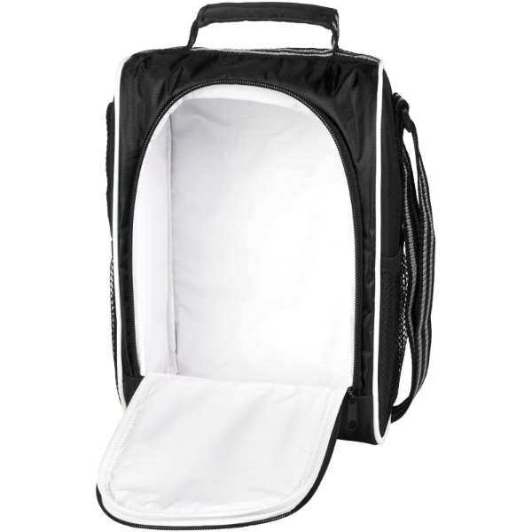 Sporty insulated lunch cooler bag - Solid black