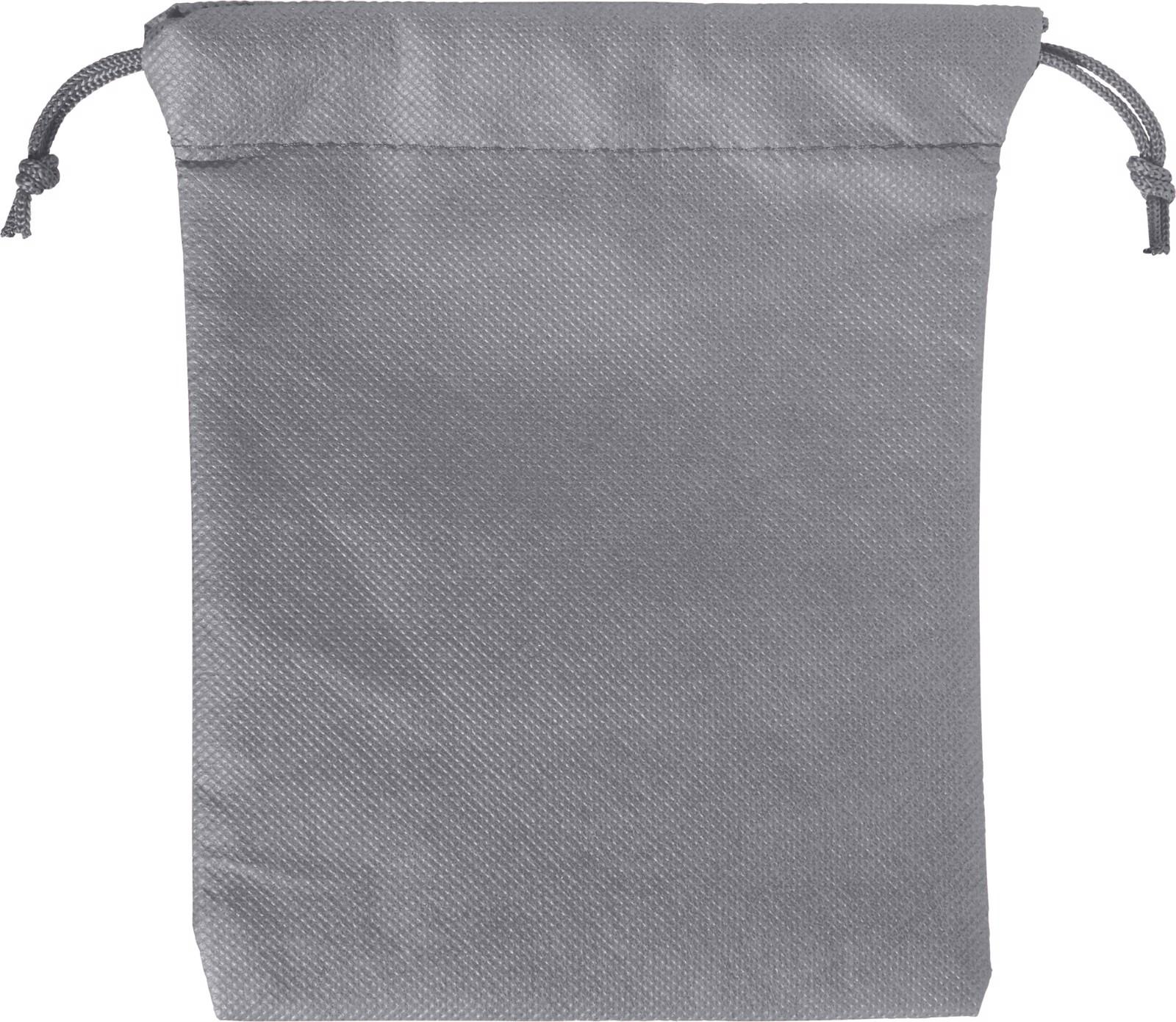 Nonwoven (80 gr/m²) drawstring pouch - Grey
