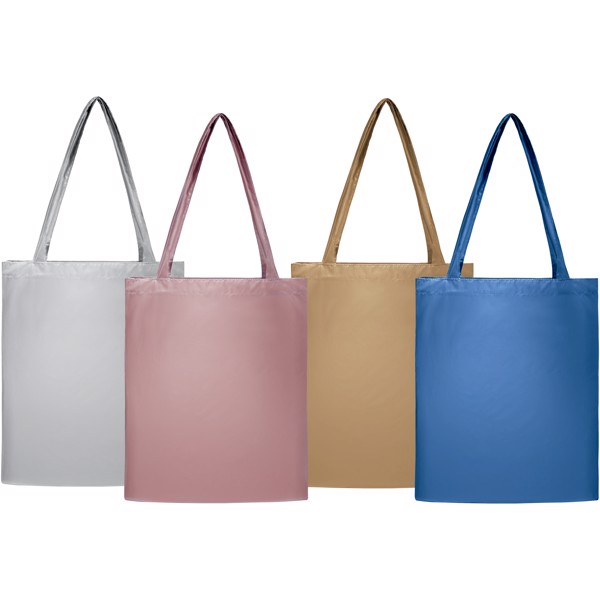 Salvador lesklá nákupní taška - Stříbrný