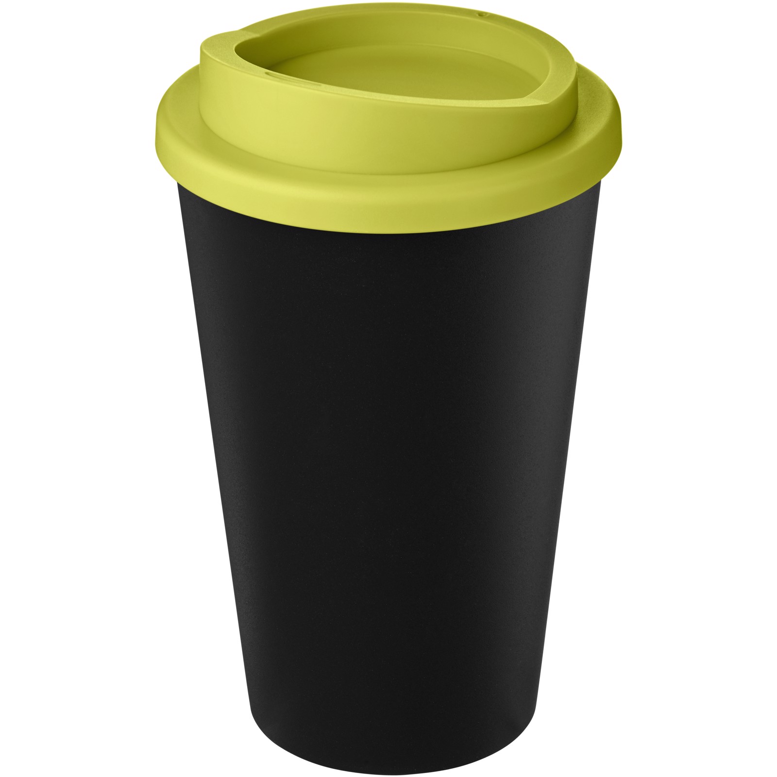 Americano Eco 350 ml recycled tumbler - Solid black / Lime