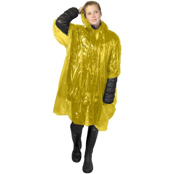Ziva Einweg Regenponcho mit Hülle - Gelb