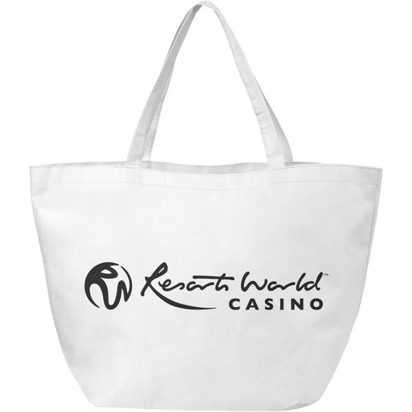Maryville non-woven shopping tote bag - White