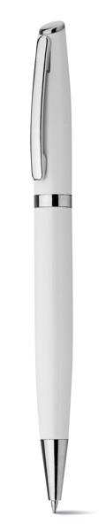 LANDO. Ball pen in aluminium - White