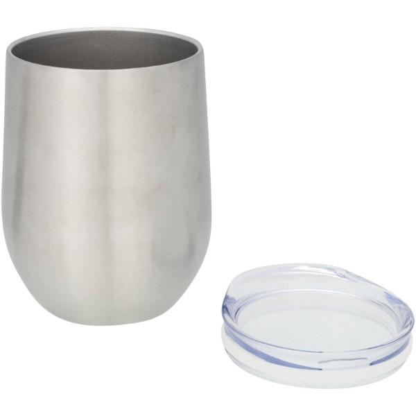 Termiczny kubek Corzo z izolacją próżniowo miedzianą - Srebrny