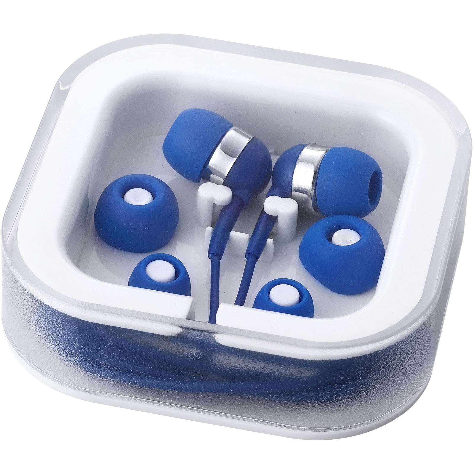 Sluchátka Sargas s mikrofonem - Světle modrá