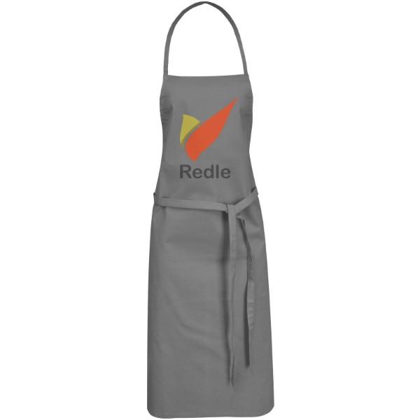 Reeva 100% cotton apron with tie-back closure - Grey