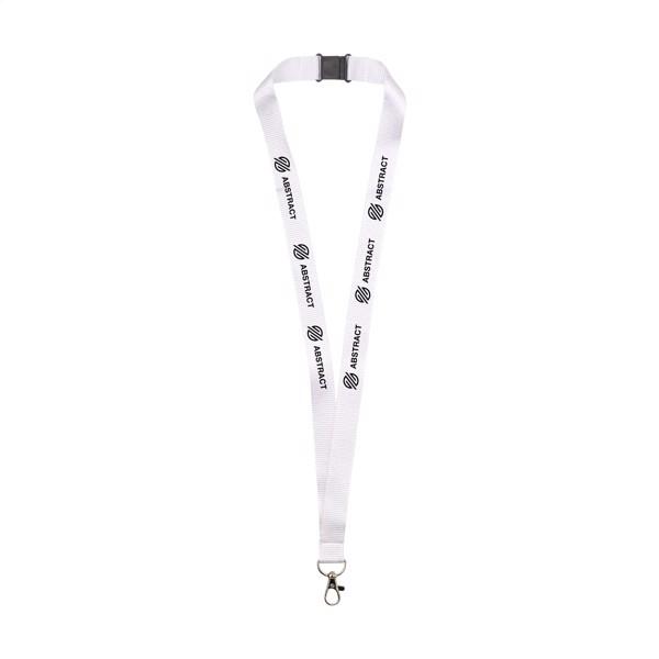 Lanyard Safety 2 cm RPET lanyard - White