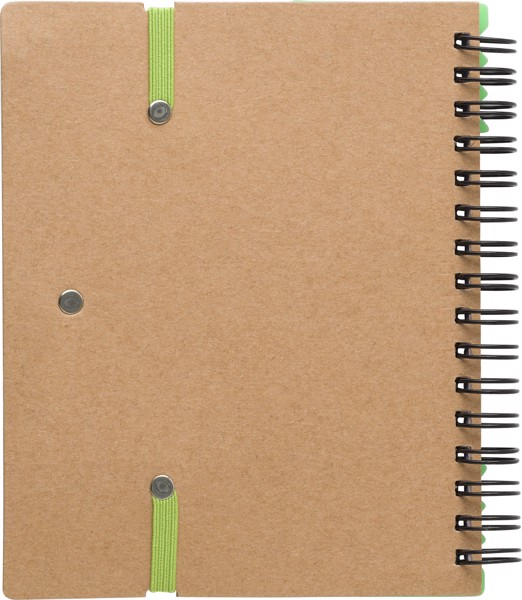 Recycled paper notebook - Light Green