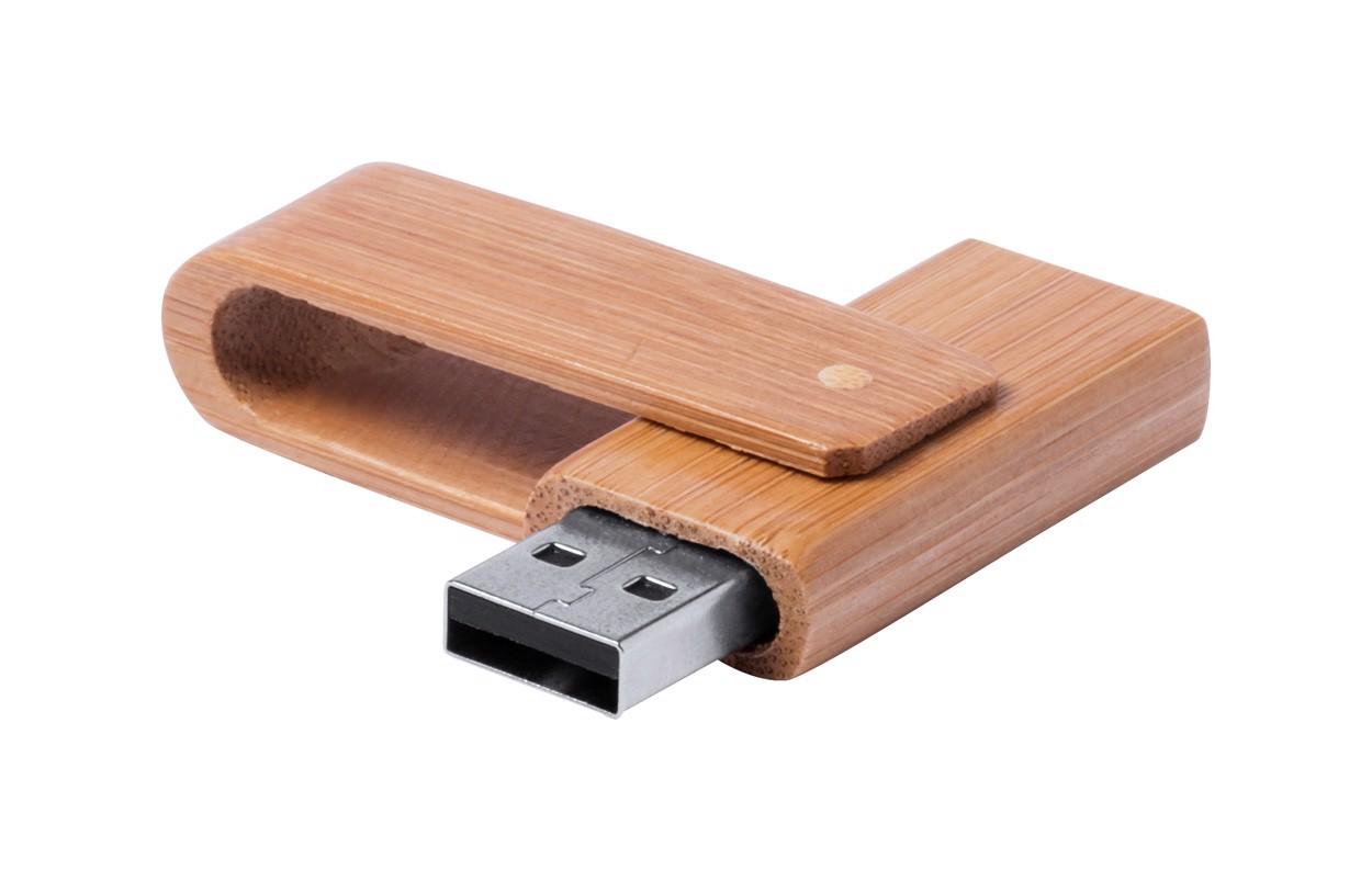 USB ključek 16 GB Haidam - rjav