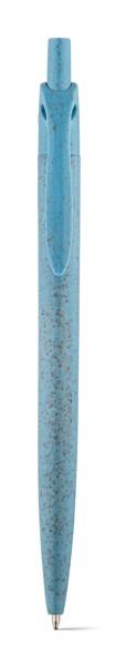 CAMILA. Bolígrafo en fibra de paja de trigo y ABS - Azul Claro