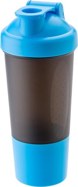 PE plastic protein shaker - Light Blue