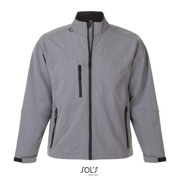 RELAX-MEN SS JACKET-340g - gris chiné / XXL