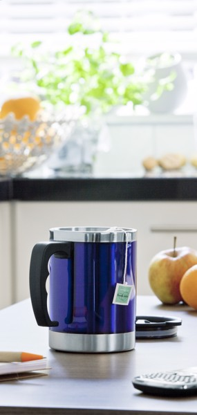 Stainless steel and AS double walled mug - Blue