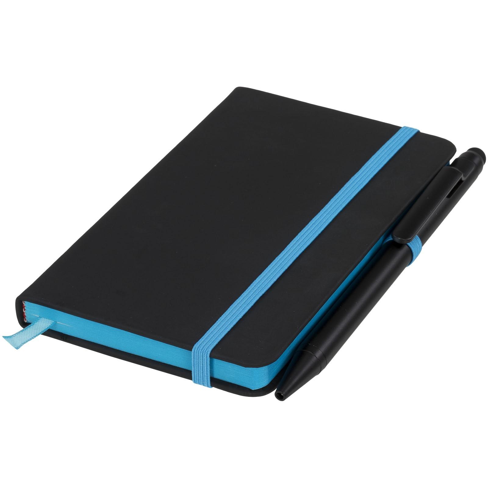 Zápisník Small noir edge - Černá / Modrá