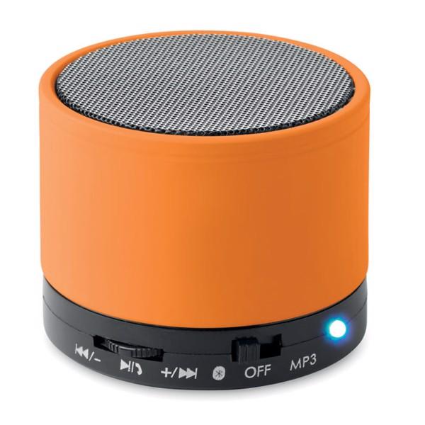 Round wireless speaker Round Bass - Orange