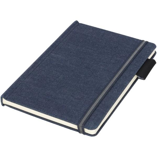 Látkový notebook Jeans, A5 - Tmavě modrá