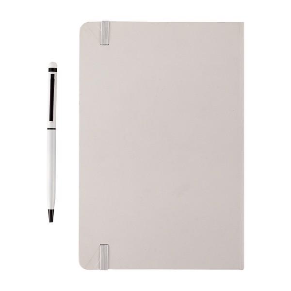 Zestaw notes z długopisem Abrantes - Biały