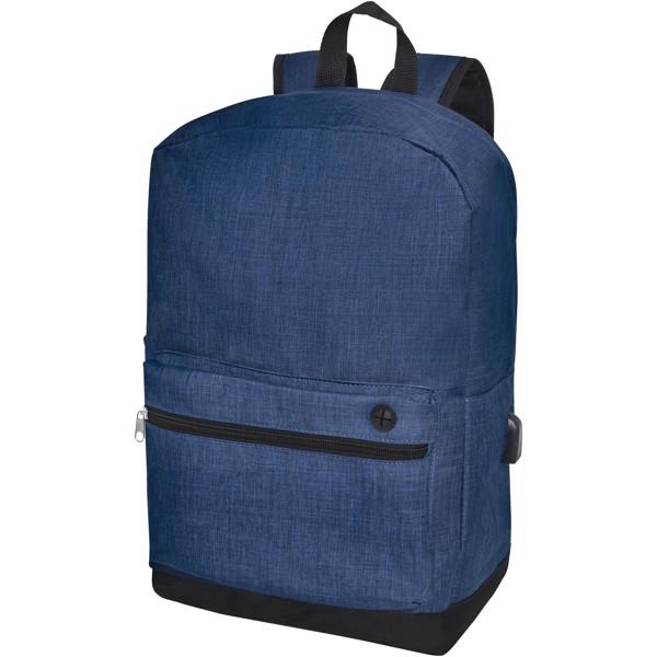 "Hoss 15.6"" business laptop backpack - Heather navy"
