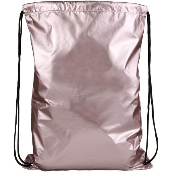 Oriole shiny drawstring backpack - Pink