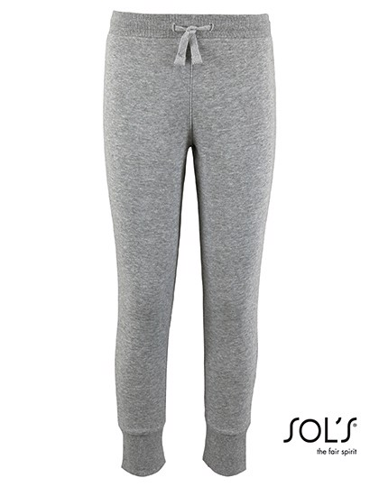 Kids` Slim Fit Jogging Pants Jake - Grey Melange / 12 years (142-152)