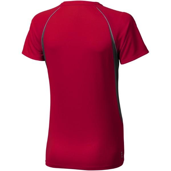 Dámské Tričko Quebec s krátkým rukávem, cool fit - Červená s efektem námrazy / Anthracitová / S