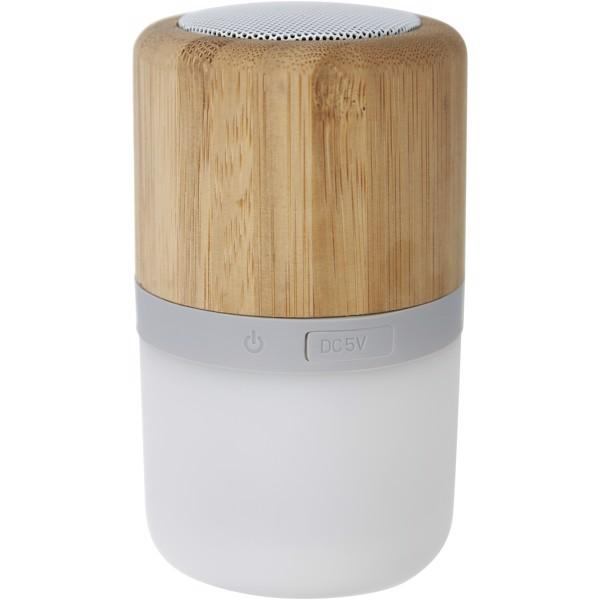 Aurea bamboo Bluetooth® speaker with light