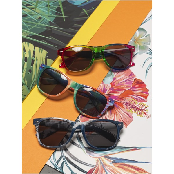 Sun Ray tie dye sunglasses - Blue / Solid Black