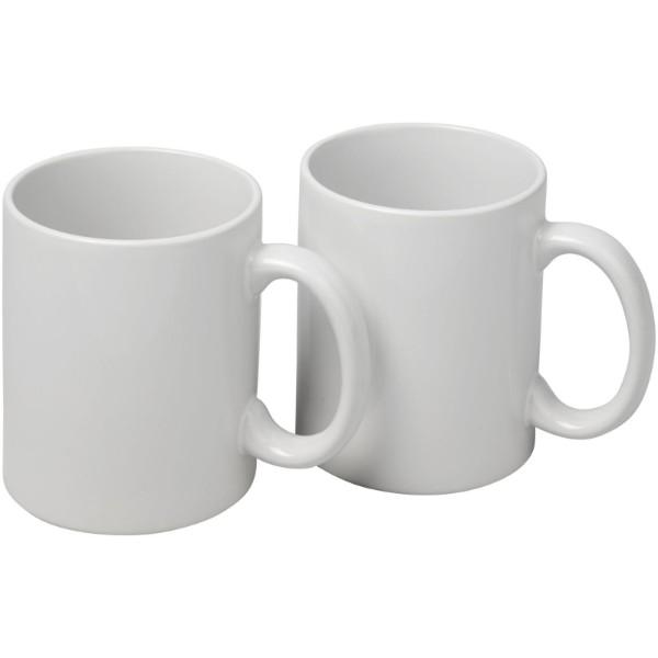 Dárková sada dvou hrnků Ceramic - Bílá