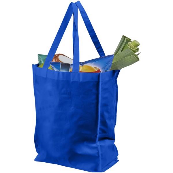 Střední laminovaná nákupní taška Conessa - Světle modrá
