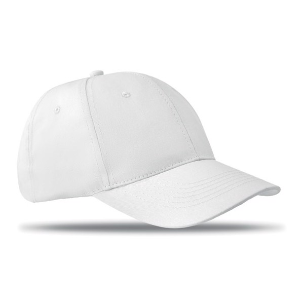 6 panels baseball cap Basie - White