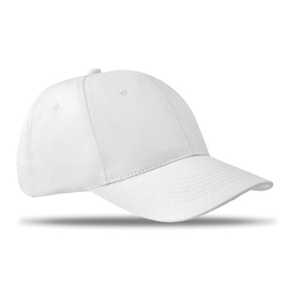 Czapka baseballowa 6 paneli Basie - biały